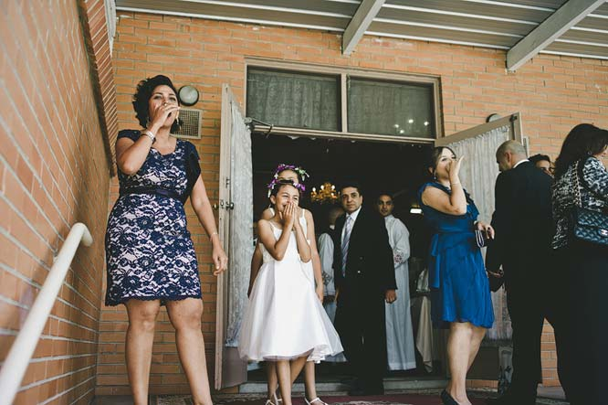 Guests cheering on bride's arrival Melbourne Egyptian
