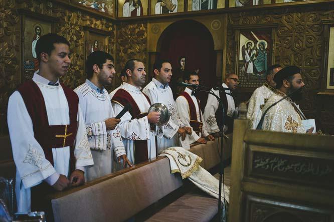 Egyptian mail choir church