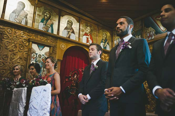 Bride's maids and best mans in Melbourne church