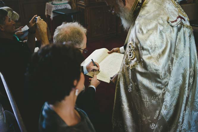 Melbourne Egyptian Wedding parents signing document