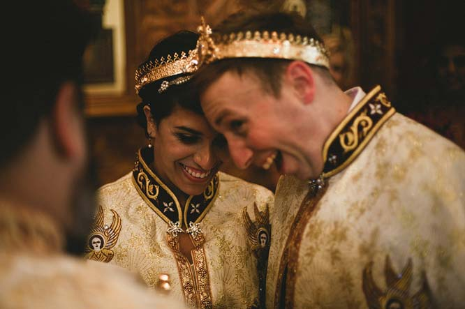Melbourne Egyptian Wedding Groom smiling with crown