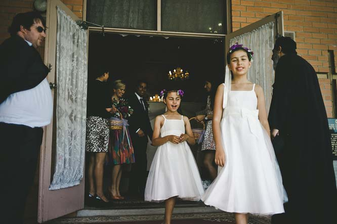 Melbourne Egyptian Wedding flower girl leaving
