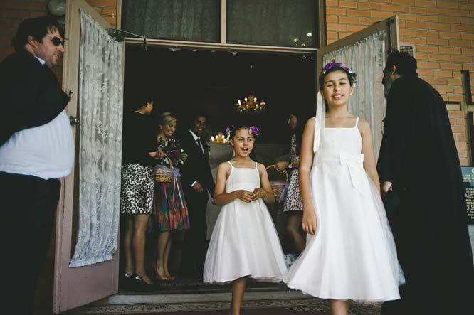 Melbourne Egyptian Wedding flower girl leaving