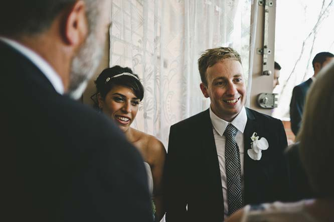 Melbourne Egyptian Wedding couple greeting guests