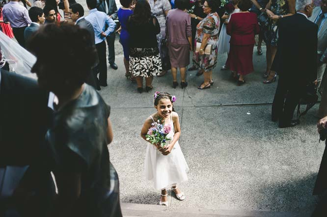 Melbourne Egyptian Wedding flower girl smiling