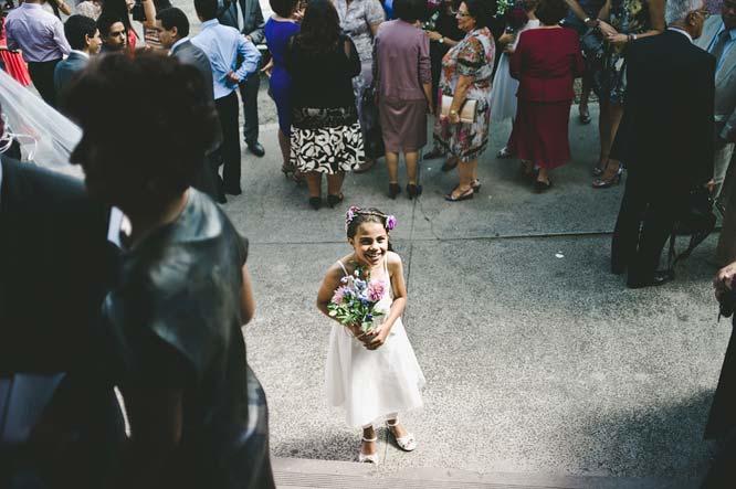 Melbourne Egyptian Wedding flower girl smiling