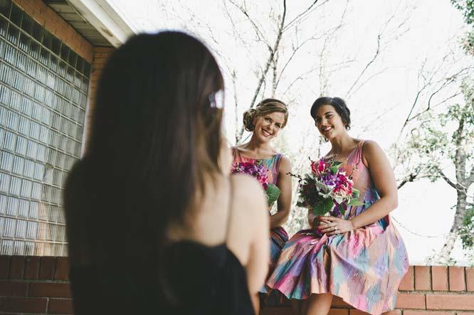 Melbourne Egyptian Wedding bridesmaids having photos taken
