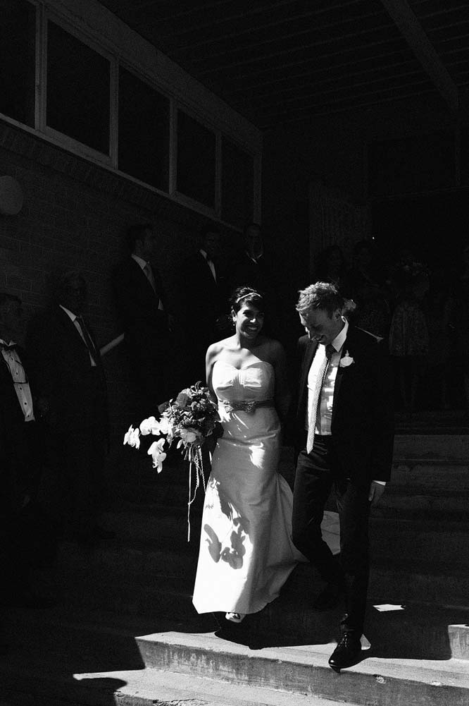 Melbourne Egyptian Wedding bride groom leaving church