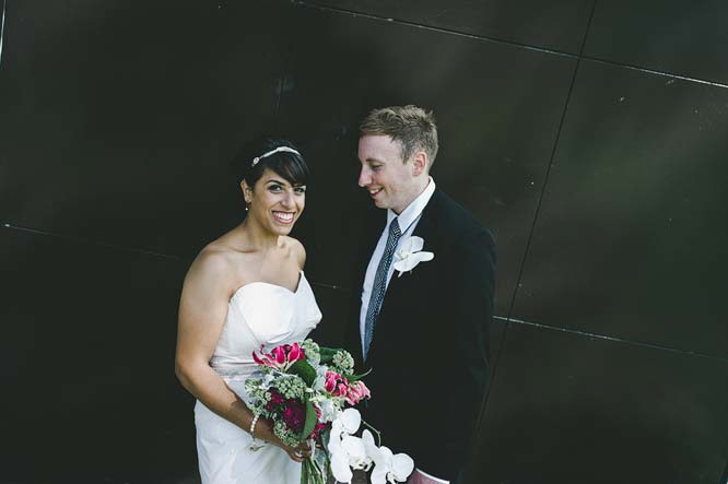 Melbourne Egyptian Wedding couple in front of museum