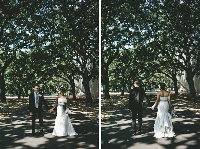 Melbourne Egyptian Wedding couple front and back