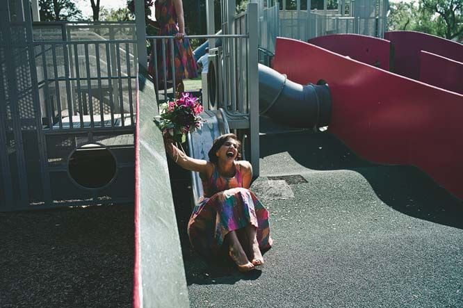 Melbourne Egyptian Wedding cousin slide playground