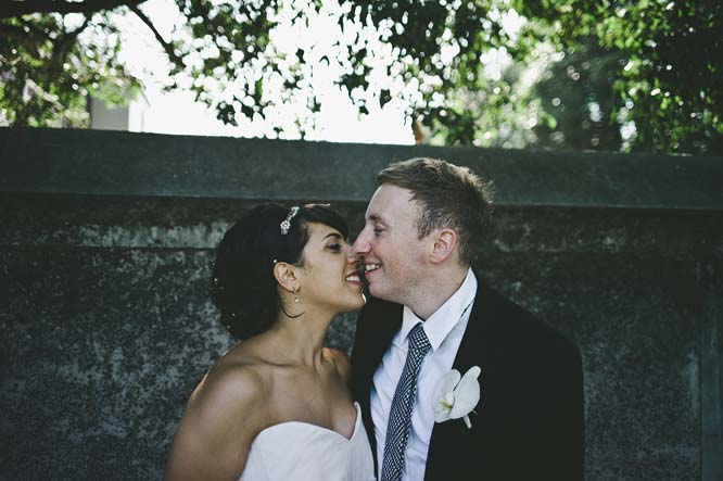 Melbourne Egyptian Wedding couple almost kissing