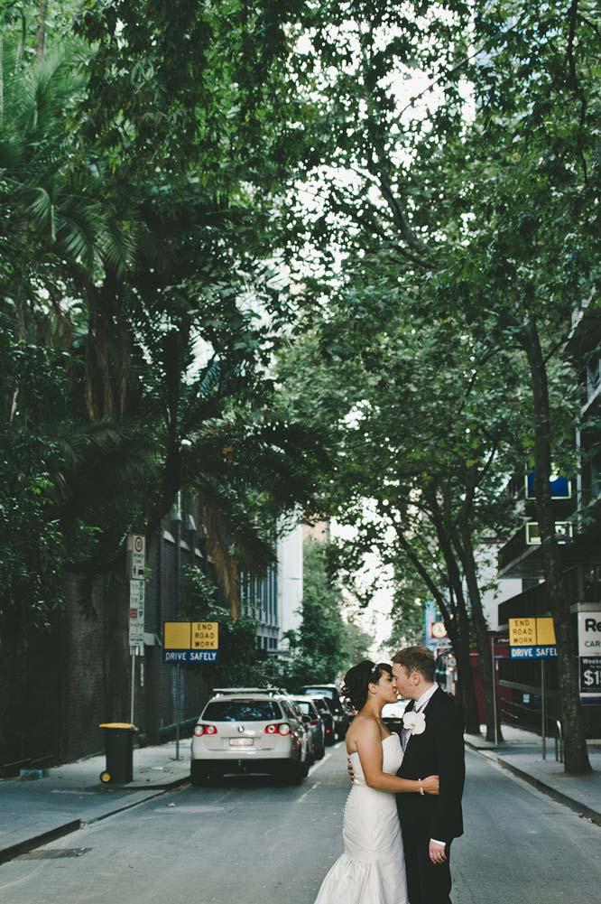Melbourne Egyptian Wedding urban jungle kissing