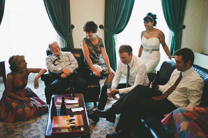 Melbourne Egyptian Wedding family waiting room