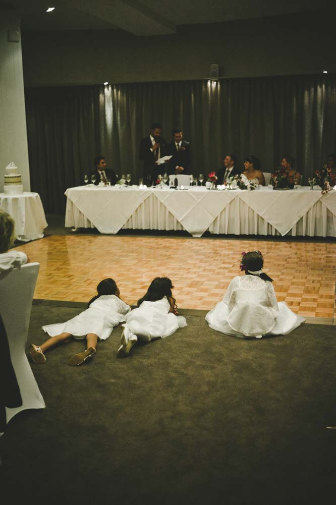 Melbourne Egyptian Wedding Windsor Hotel Flower girls sitting