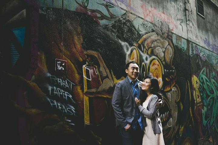 Martin and Ling Bourke Street Graffiti Wall