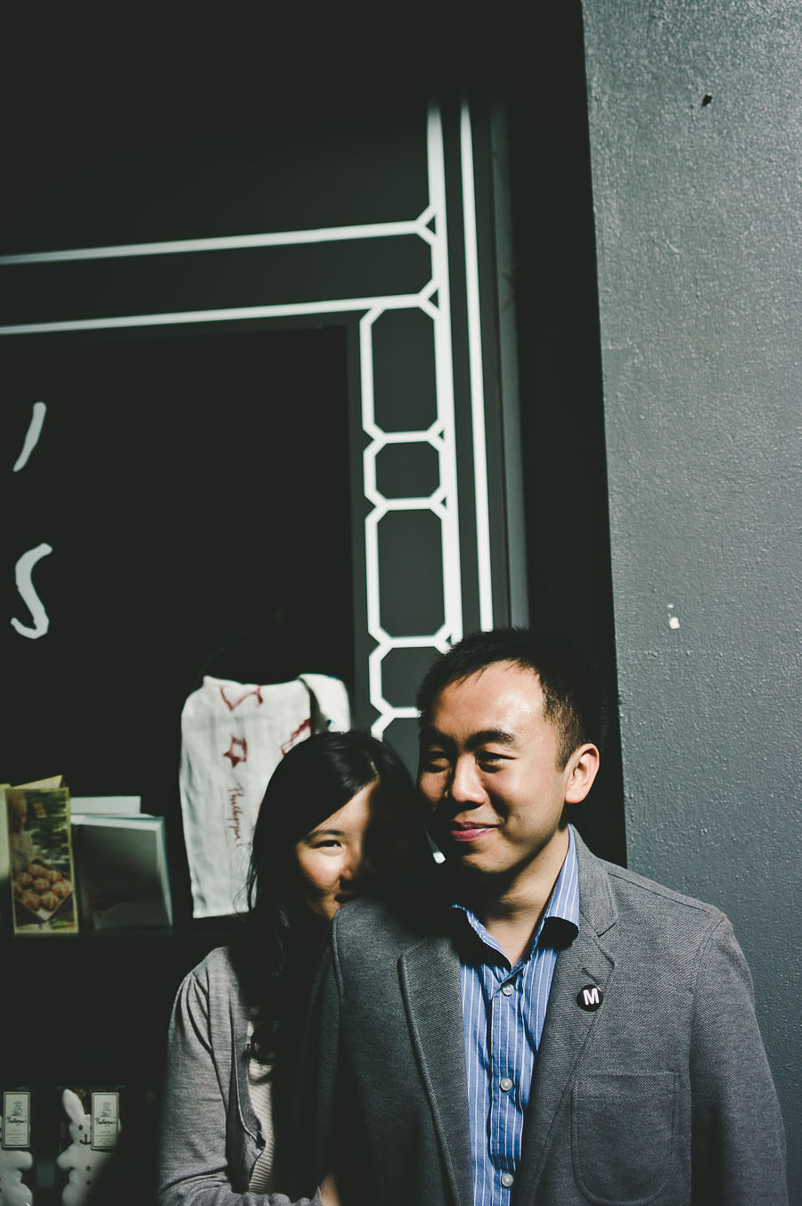 Couple in front of Presgrave Place