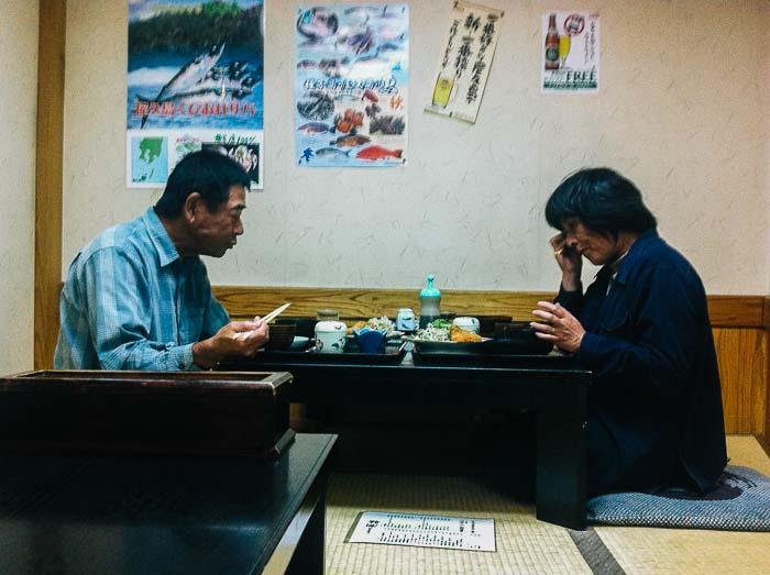 Japanese couple lunch Yakushima