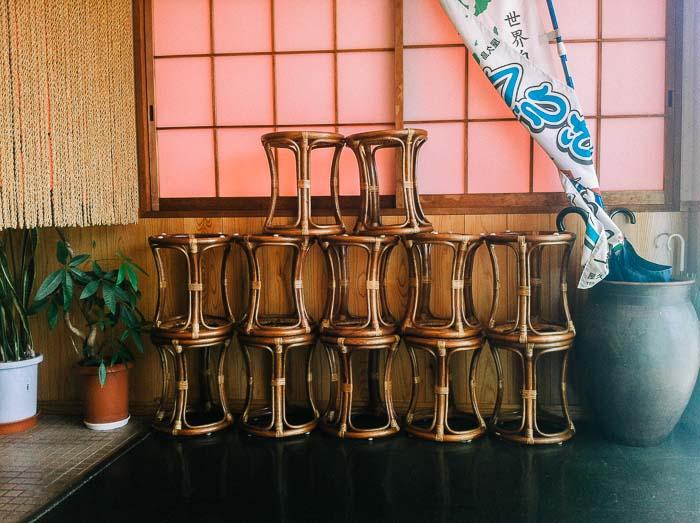 Chair arrangements Yakushima