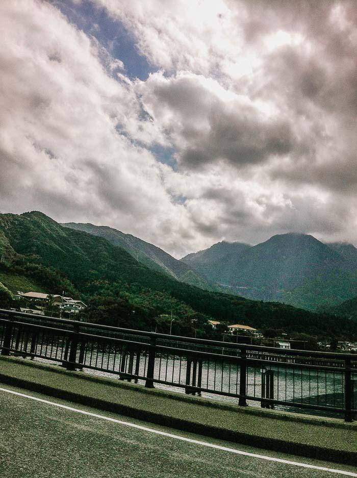 Crossing the bridge in Yakushima
