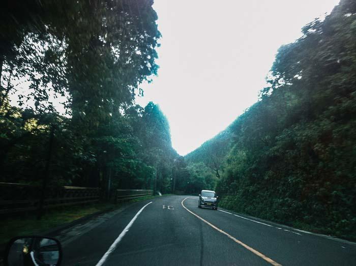 Car across Kagoshima Japan