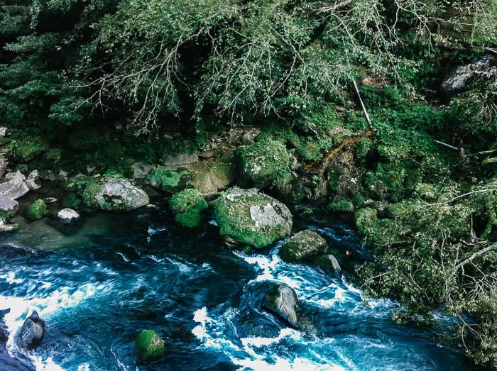 Closer view of river and stones at Kagoshima