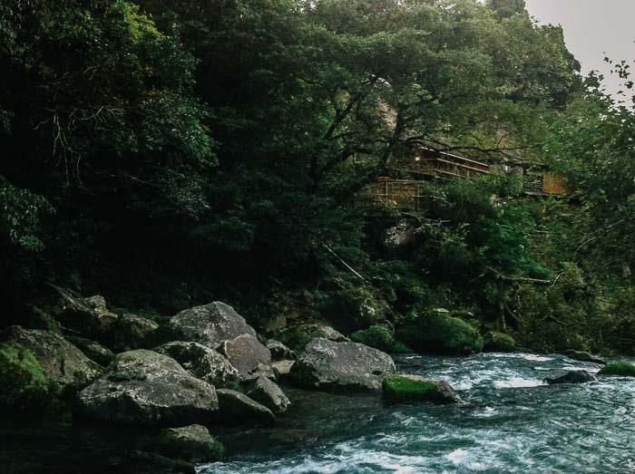 View from foot onsen Kagoshima Japan