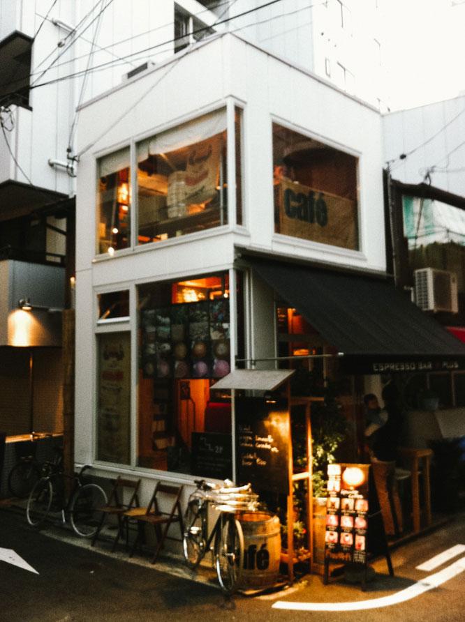 Tiny cafe in Kobe, Japan