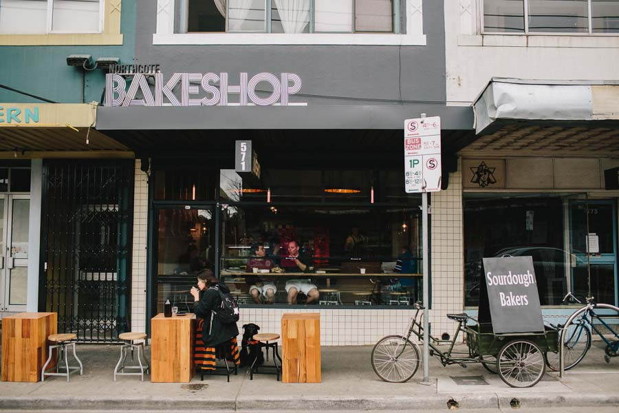 Exterior of Northcote Bakeshop