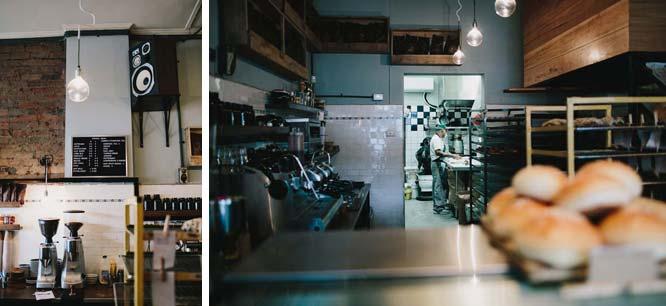 Interior shot of Northcote Bakeshop