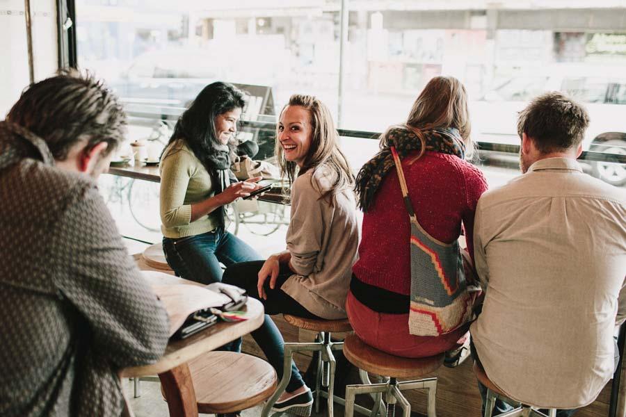 Customers inside Northcote Bakeshop