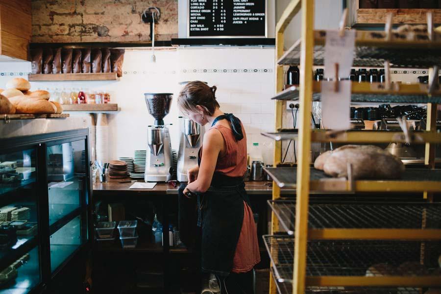 Barista making coffee Northcote Bakeshop