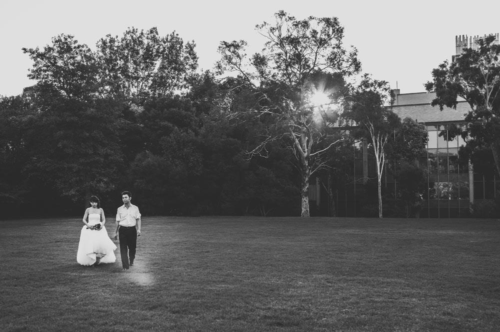 South Lawn Melbourne University Engagement Photographer