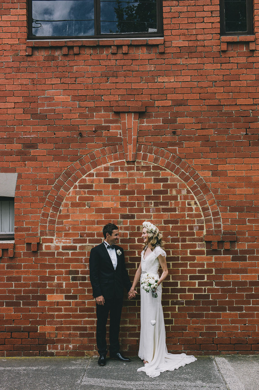 brick wall melbourne wedding photography