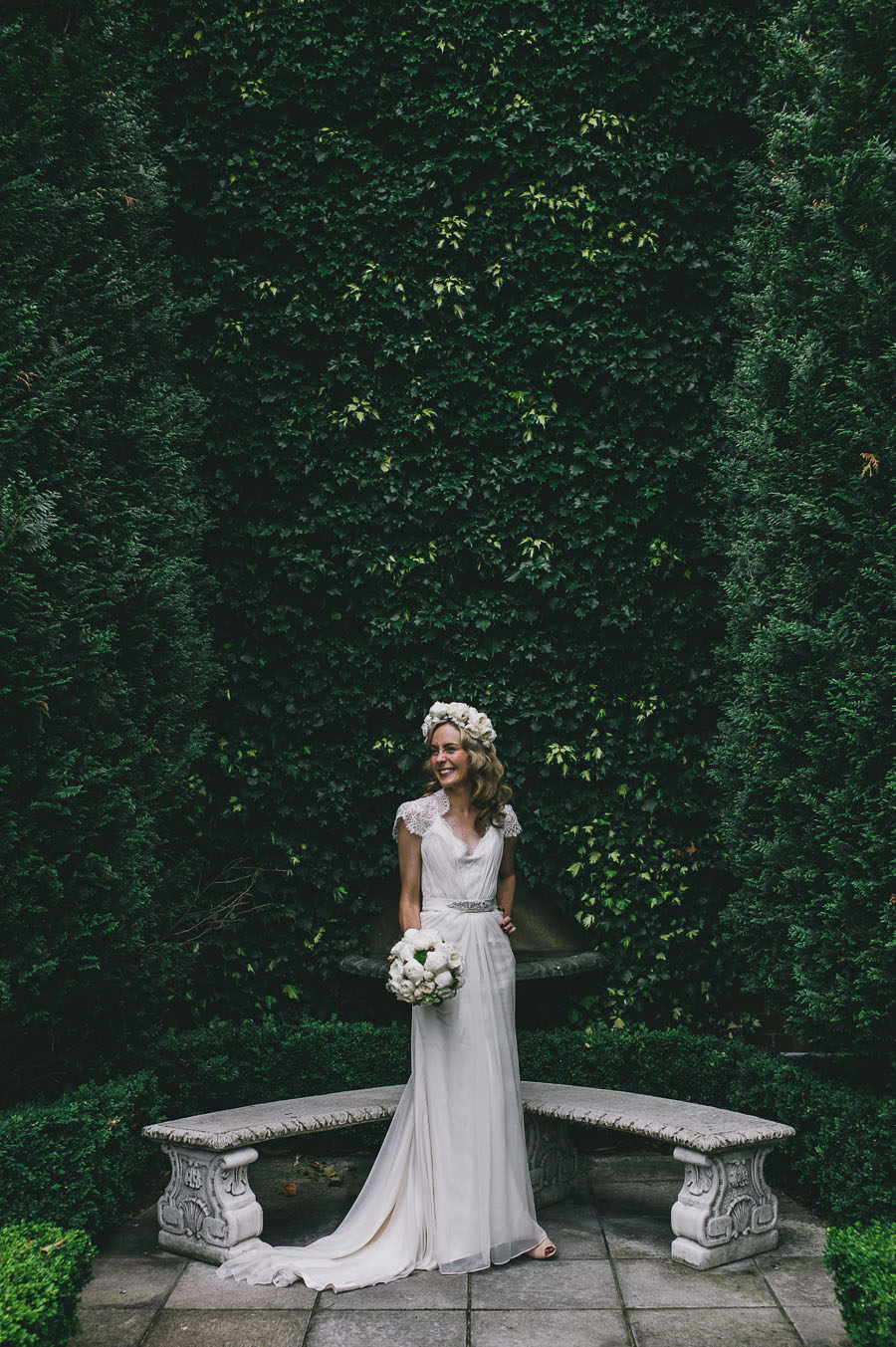 bride only garden wall melbourne wedding