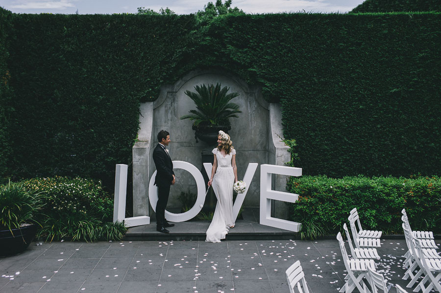 love foam sign melbourne wedding