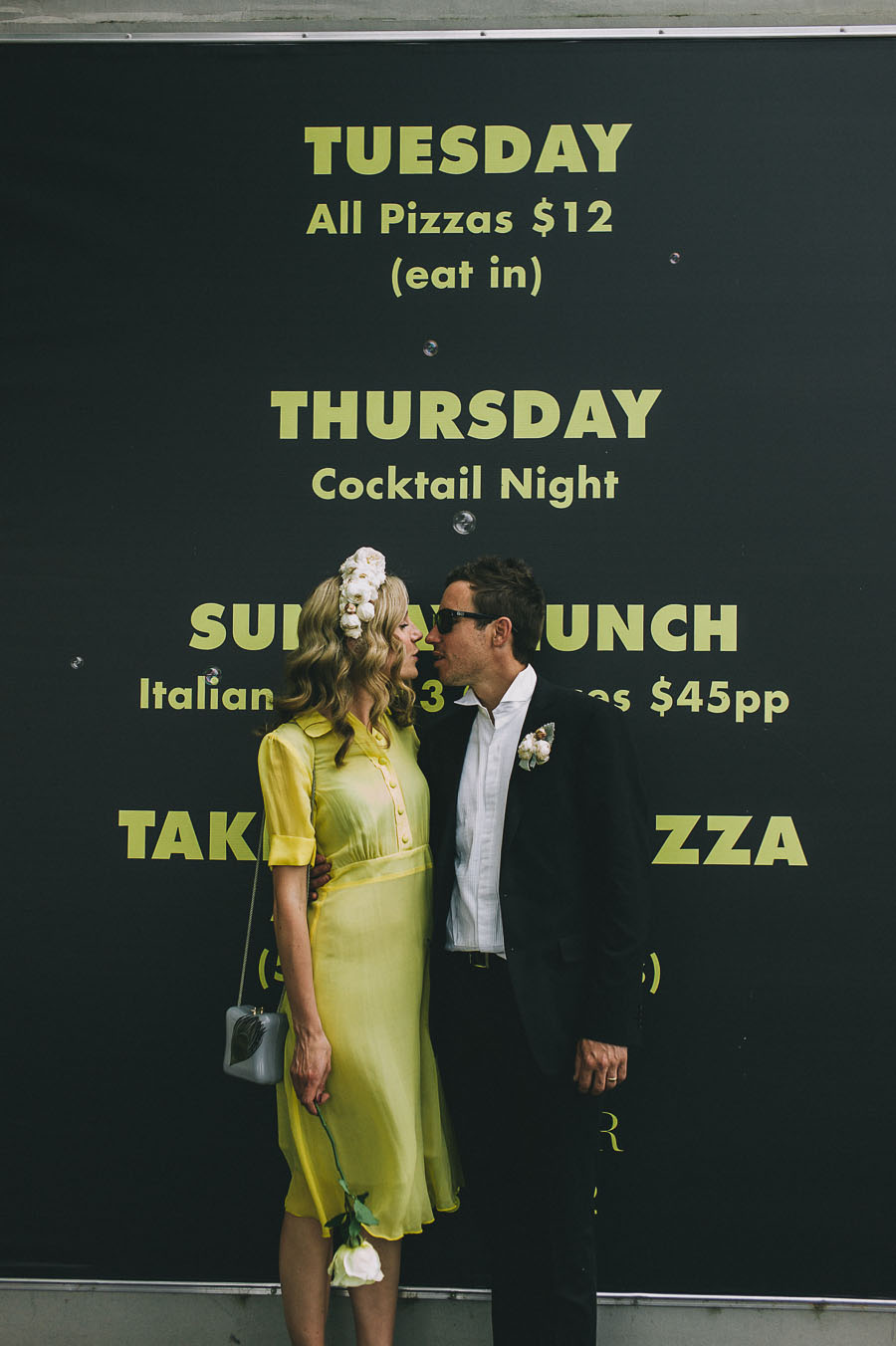 black and yellow theme wedding melbourne