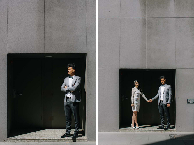 harsh daylight wedding portrait flinders lane