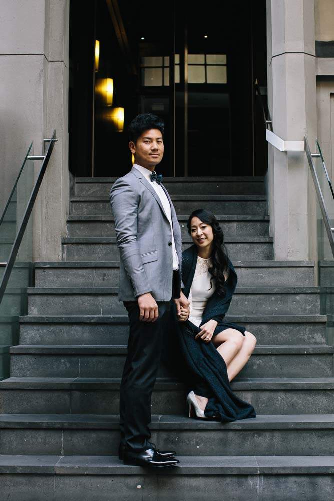 flinders lane steps couple pose