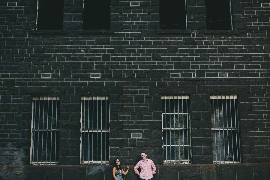 Carlton brewery Melbourne engagement couple