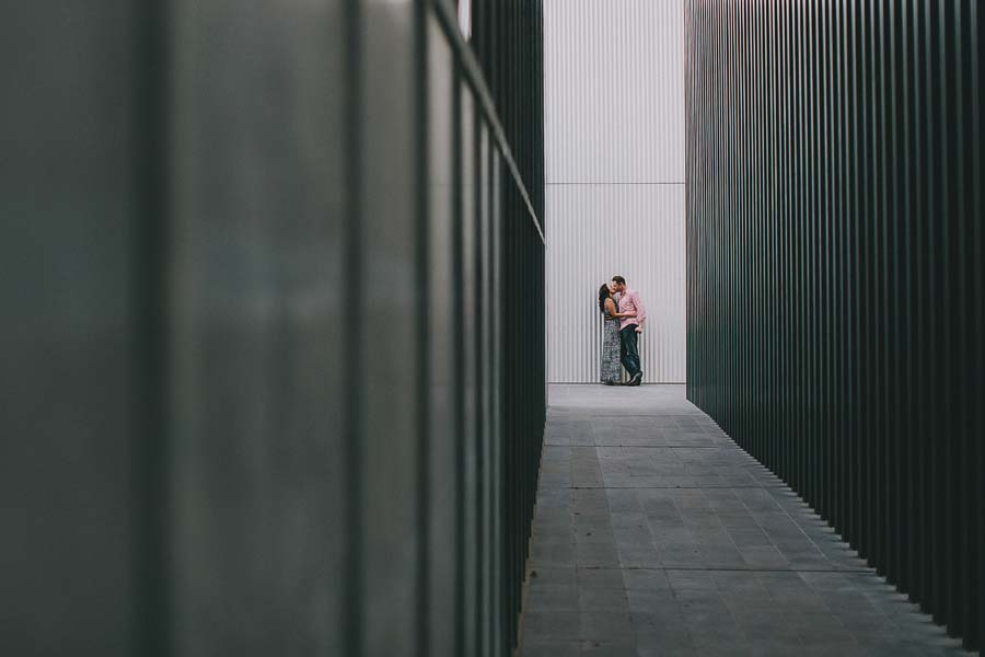 Melbourne CBD engagement couple RMIT