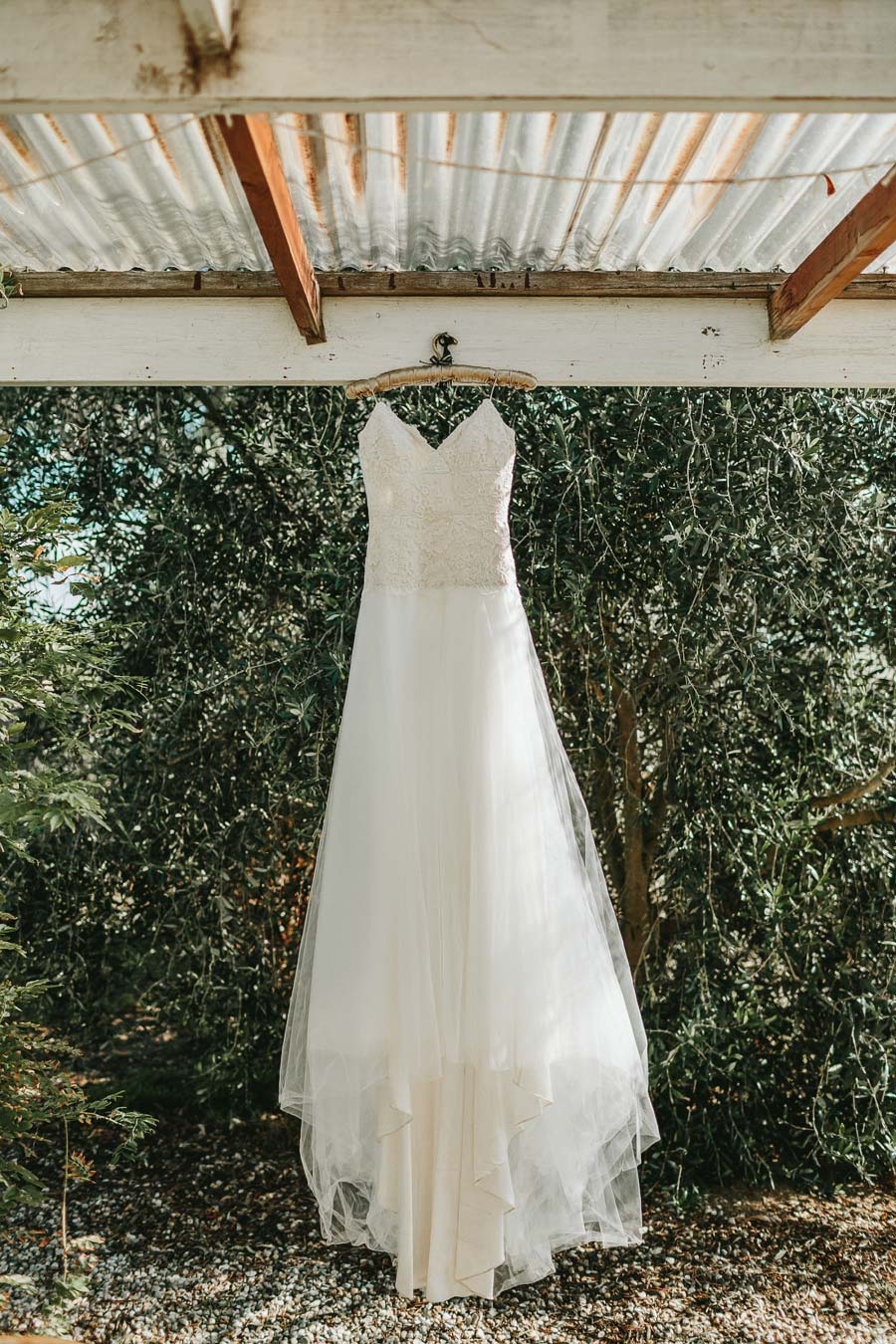 wedding dress wood duck cottage