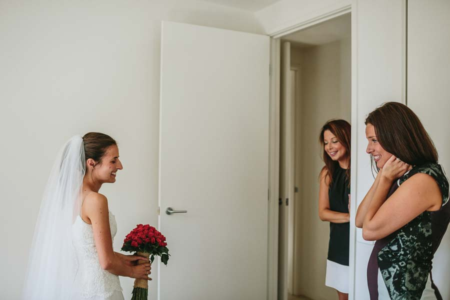 Bridemaids reaction Melbourne wedding