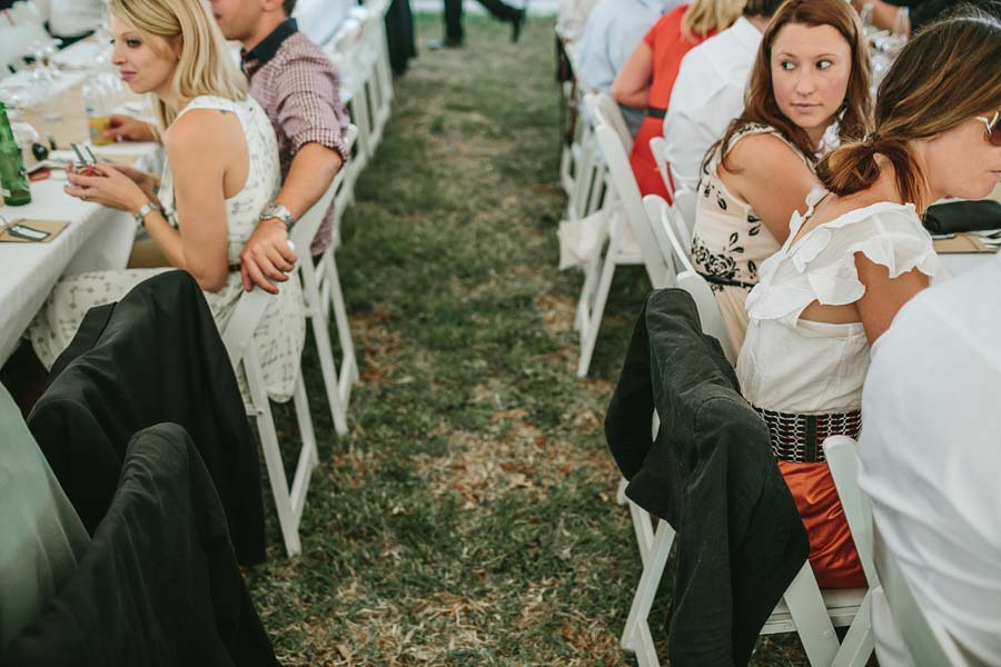 Melbourne farm wedding reception