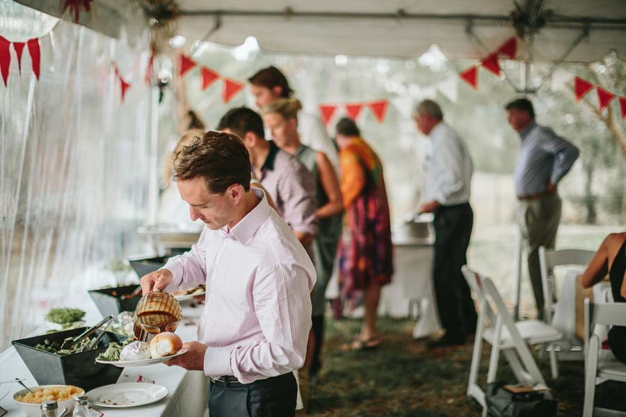 Melbourne farm wedding buffet
