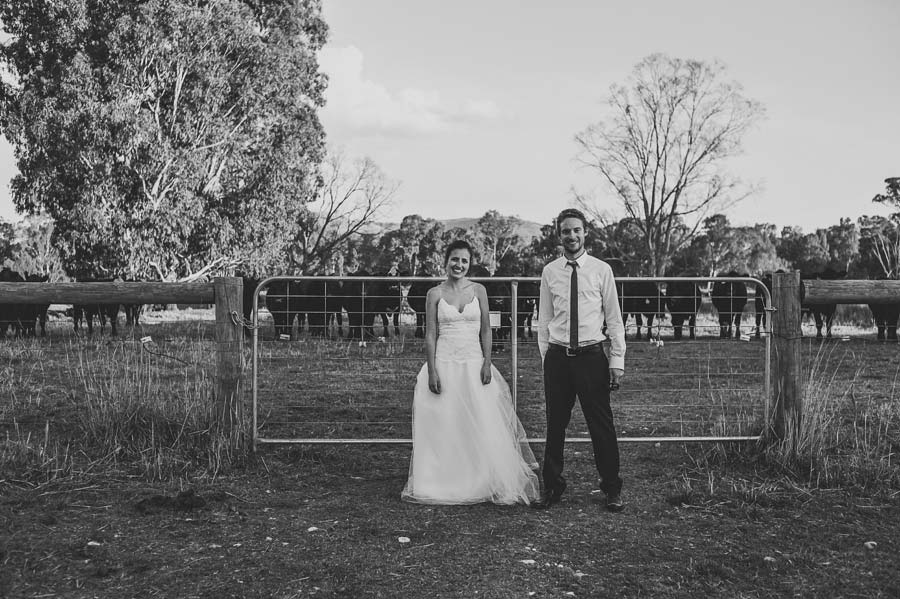 Melbourne outback wedding cow barn