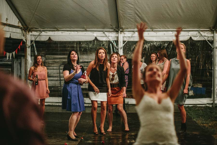 Melbourne farm wedding flower toss