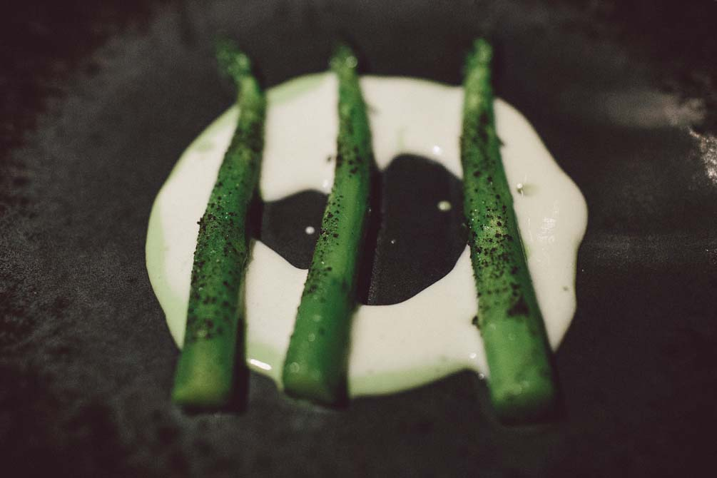 Asparagus cooked in its juice Coi