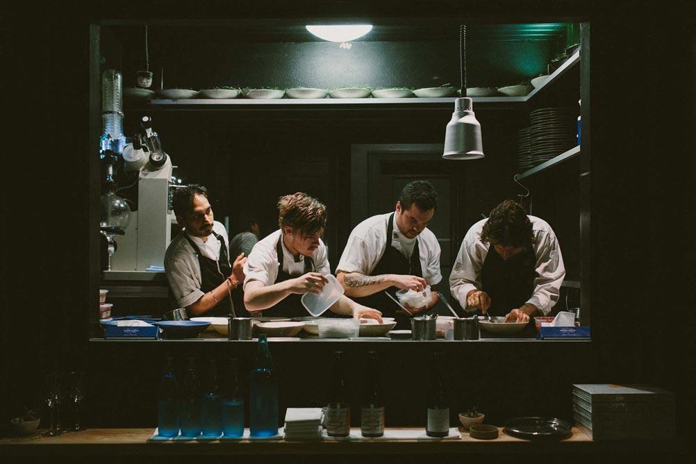 Chefs working in Attica Melbourne