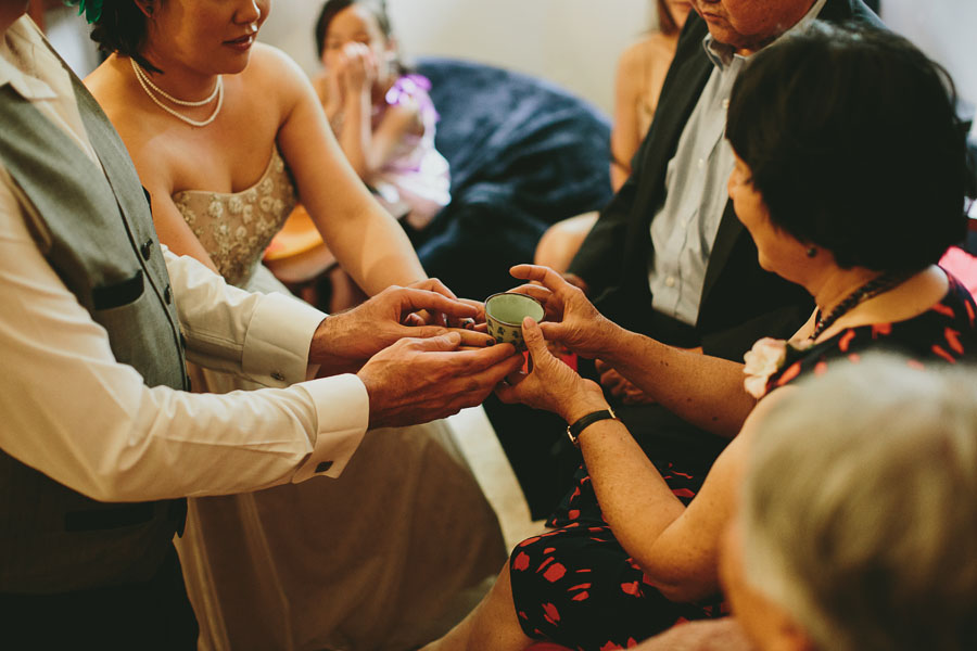 Tea ceremony peppertree wedding Coburg